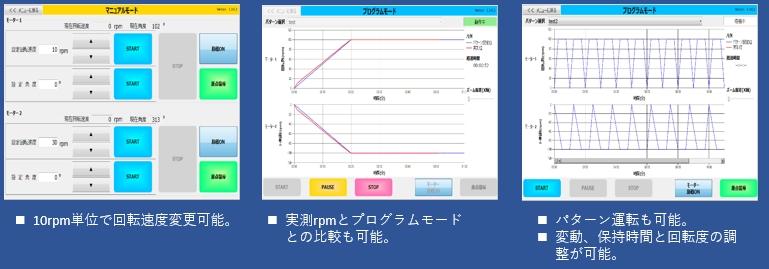 3次元ボールミル PC制御画面