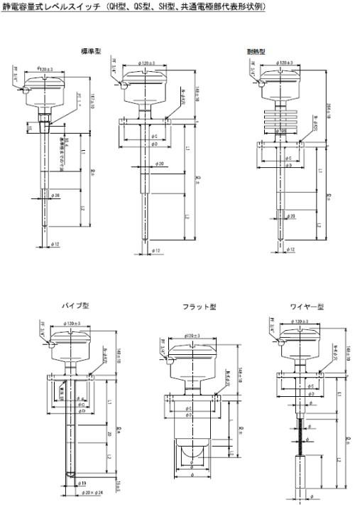 QH型 QS型 SH型 図面PDFファイル